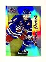 1996-97 PINNACLE SELECT CERTIFIED MIRROR GOLD #76 BRIAN LEETCH /30 MINT RANGERS