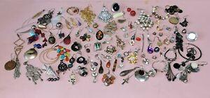 Job Lot Of Single Earrings For Crafting Etc, Vintage & Modern Over 100 Earrings