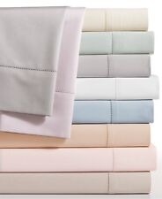 Hotel Collection Bedding 680 TC Supima Cotton QUEEN Flat Sheet IVORY $170 i3623
