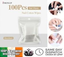 100Pcs Lint-Free Nail Wipes Polish Remover Cotton UV Gel Wipe Cleaner Paper Pad
