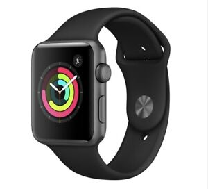 Apple Watch Series 3 38mm Space Grey Aluminium Case with Grey Sport Band (GPS) -