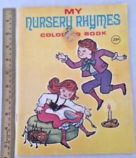 Nursery Rhymes Coloring Book Playmore 1969 Unused Crayon Toy Vintage NOS