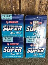 4- Worth Super Blue Dot softball ball Sx-2Rsa Dura-Hyde Red Stitch 47-Asa Logo