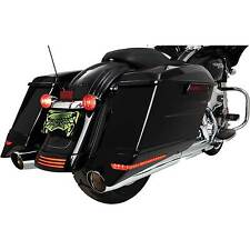 Ciro Black Saddlebag Extensions for 2014-2016 Harley Touring Stretched Bags