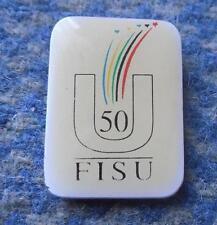 FISU INTERNATIONAL UNIVERSITY ACADEMIC SPORTS FEDERATION 50 ANNIVERSARY PIN