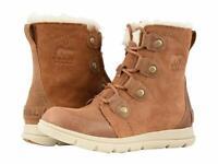 Women's Sorel Explorer Joan Suede Winter Boots - Camel Brown/Ancient Fossil