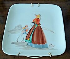 vecchio piatto firmato lety Loy Melis altara lai arte sarda