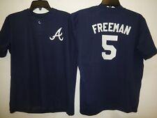 0217 Boys Youth Atlanta Braves FREDDIE FREEMAN Pullover Baseball JERSEY New BLUE