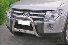 MITSUBISHI PAJERO 07 e 2012(V80) BULL BAR MIRROR INOX 60 LUCIDO C/SCRITTA