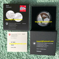 Switzerland silver proof CHF 20 Francs Franken 2020 Ceneri NEAT box+certificate