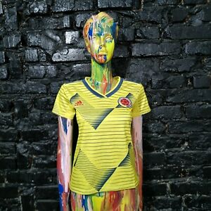 Colombia Team Jersey Home football shirt 2019 Adidas DN6619 Woman Size S