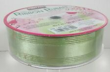 New Huge Roll Of Wire-Edge Seafoam Green Ribbon All Occasion Gift Wrapping Baske