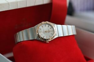 Omega Constellation 18kt Red Gold & Steel Silver Dial 123.20.24.60.02.001 2017