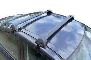 Alloy Roof Rack Cross Bar for Mitsubishi Lancer CJ CF 07-17 Lockable Black