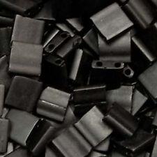 Matte Black Miyuki Tila Beads 7.2gm 2 Hole Seed Bead 5x5mm