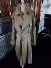UNISEX VNTGE 80S DOES 50S TRENCH MAC COAT VGC M OVERSIZED ENSIGN WARTIME LOOK