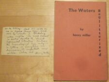 HENRY MILLER Signed HANDWRITTEN letter to BERN PORTER & 1st WATERS REGLITTERIZED