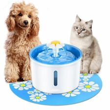 Pet Water Fountain Drinking 1.6L Automatic Dispenser Dog Cat Health Feeder