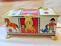 Vintage Klann Quality Hinged Container Tin Made In Western Germany Circus Theme