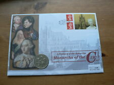 2001 GB £5 Pounds Coin Large Numismatic Cover, Monarchs of the 19th Century
