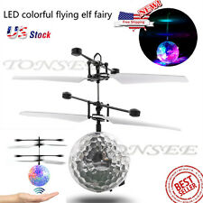 Aircraft RC Flying Ball With LED Mini Drone RC Quadcopter Helicopter Toy Gifts