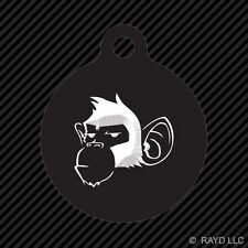 Monkey Keychain Round with Tab dog engraved many colors