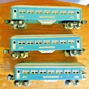 Lionel Vintage O gauge Pre war blue/cream Pullman passenger set 2640 2640 2641.