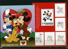 """DOMINICA 1997 Sc#1935-1936 WALT DISNEY """"SEALED WITH A KISS"""" SET OF 2 S/S MNH"""