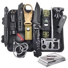 Kit de survie d'urgence Multi-outils 19en1 Avec Trousse de Premiers Secours,Cout
