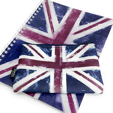 Monster Stationery - A4 Notebook & Pencil Case Set- Flag Range - Union Jack