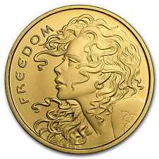 2017 1 oz Gold Round - Freedom Girl (w/Box & COA) - SKU #118191