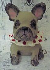 French Bulldog Dog Pottery  Jar Unique One of Kind Original Handmade Bull Dog