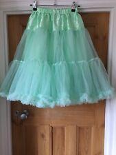 Fluffy Petticoat Underskirt For Wedding Dress Bride Bridesmaid Pastel Mint Green