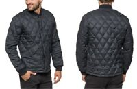 NEW LEE BOMBER QUILTED JACKET DARK  GREY MELE BLACK WARM PADDED COAT S/M/XL/XXL