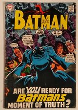 """Batman #211 (DC - 1969) VG+ """"Batman's Big Blow-Off!"""""""