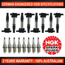 8x NGK Iridium Spark Plugs & 8x Swan Ignition Coils for Jaguar S-Type XF XJR