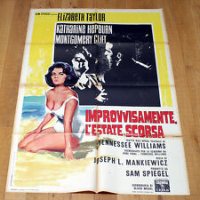 IMPROVVISAMENTE L'ESTATE SCORSA poster Elizabeth Taylor Montgomery Clift Summer