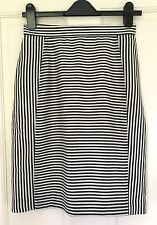 COS Pencil Skirt Size 10 36 Striped Cotton Lined NEW NWT