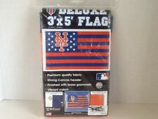 NEW YORK METS STARS AND STRIPES 3'X5' DELUXE FLAG BRAND NEW WINCRAFT