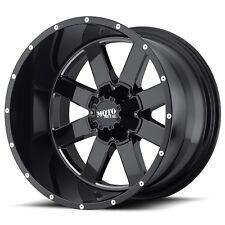 4 17 inch MO962 17x10 Rims Black -24mm 8x180 Chevy GMC 2011-2016 MO96271088324N