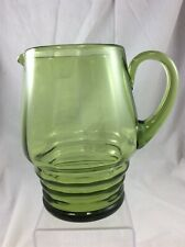 Green Glass Jug Attributed to Powell - Whitefriars Glassworks