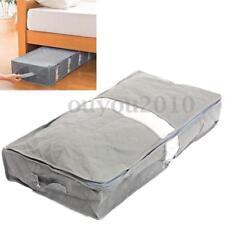 Sous Lit Sac de Rangement Organisateur Stockage zip Accès Facile Vêtements boîte