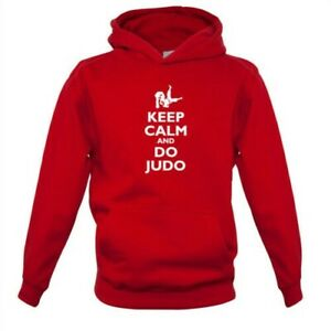 Keep Calm and Do Judo - Kids Hoodie Fighting Martial Arts Fight Olympics Love