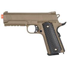 FULL SIZE METAL AIRSOFT M1911 SPRING PISTOL HAND GUN TAN w/ 6mm BB BBs Tactical