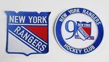 LOT OF (2) HOCKEY NEW YORK RANGERS LOGO & CLUB PATCHES (TYPE C) ITEM # 89