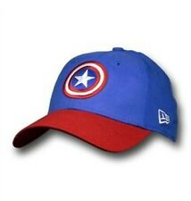 Captain America Dyad Flex Fit Cap Medium/Large shield insignia red white blue