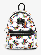 Disney & Loungefly Mickey Mouse Rainbow Mini Size Backpack FACTORY SEALED