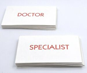 Operation Cards Doctor and Specialist Complete Sets - Game Replacement Parts