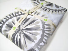 West Elm Multi Colors Gray Brown Feather Medallion Cotton King Duvet Cover New