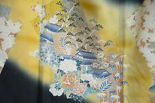 Vintage Japanese silk  Kimono  TOMESODE  from Japan 9-1